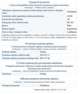 regitra-atskaite-autodna