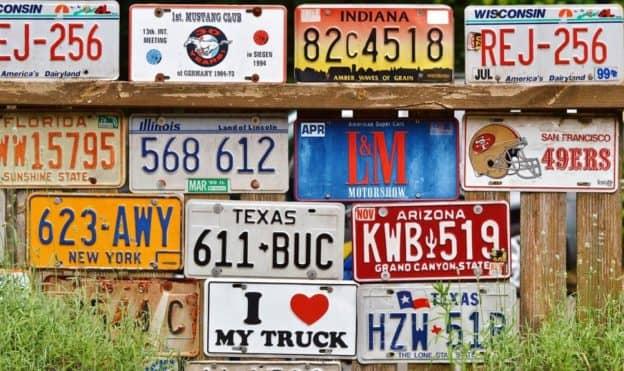 Personalizētas numura zīmes ASV