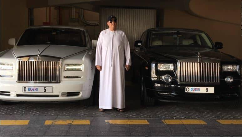 Numura zīmes Apvienotajos Arābu Emirātos
